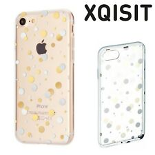 Xqisit Apple Phone 8 7 6 Shell Dots Case Ultra Slim Tough Back Cover Clear Gold