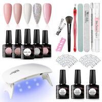 18Pcs/set MEET ACROSS UV Gel Nail Polish Kits Soak Off Nail Art Manicure Tools