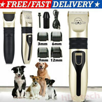 Electric Dog Cat Pet Grooming Kit Rechargeable Cordless Pet Hair Clipper Trimmer
