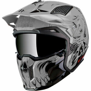 MT STREETFIGHTER FULL FACE OFF ROAD SKULL MOTORCYCLE HELMET DARKNESS MATT BLACK