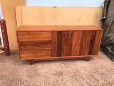 Local Made Blackwood Hardwood Timber Retro Buffet Sideboard Push To Open