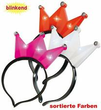 Haarreif Krone blinkend Prinzessin Königin Blinkkrone Haarreifkrone 125753013F