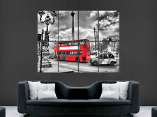 RED BUS BLACK TAXI LONDON POSTER ENGLAND UK WALL ART GIANT  PRINT