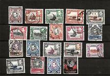 KUT KENYA  (D19-2) 1938 GEORGE V1 SG131-150 £1.00 (NO SG135  10c) SET OF 19 USED