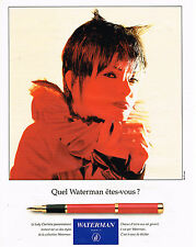 PUBLICITE ADVERTISING 094  1994  WATERMAN  stylo plume LADY CHARLOTTE