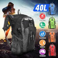 40L Camping Rucksack Wasserdichter Wanderrucksack Tasche Reise Sport Hiking  *