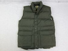 Men's Cabelas Premier Northern Goose Down Dark Green Puffer Vest Jacket Small