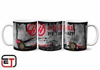 Haas Formula 1 Distressed Look Mug And Coaster Gift Set