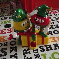 Collection M & M' s Noël Rouge & Jaune Elfes  distributeur de bonbons Cacahuète