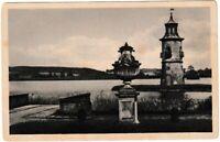 Ansichtskarte Jagdschloss Moritzburg - Nr. 30 Großteich mit Leuchtturm - s/w