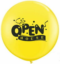 "Giant 36"" Balloon - Yellow, with black ""Open House"" print,  Jumbo Round  looners"