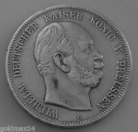 5 Mark Silbermünze Dt. Kaiserreich 1876 C - Wilhelm dt. Kaiser König v. Preussen