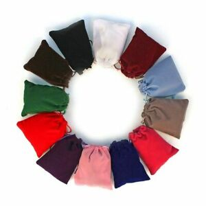 50pcs Drawstring Pouches 5x7cm Small Size Velvet Bag Jewelry Gift Packing Bags