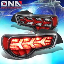 FOR 13-17 FR-S/BRZ [SEQUENTIAL] ARROW LED TAIL LIGHTS BLACK HOUSING CLEAR SIGNAL