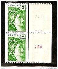 paire de roulette n° 2103a Sabine avec 3 n° rouges