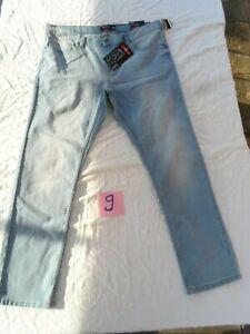 Identic more MAN Denim  Stretch Slim Jeans  Hose GR. W 40  L32 NEU Hellblau
