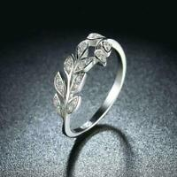 Damen Ring 925 Sterling Silber Zirkonia AAA Hochglanz poliert Rhodiniert