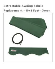 Aleko Retractable Awning Fabric FAB10 X 8 GREEN39 AP. CZA802-21V