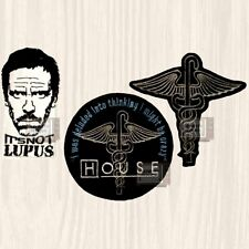 House M.D. Patches Set TV Series Hospital Logo Doctor Hugh Laurie Embroidered