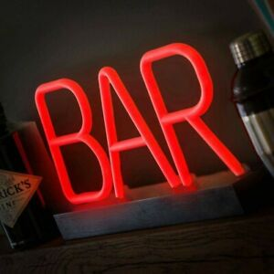 NEW Neon Effect BAR Light Sign🍸Home Bar - Battery Operated - Free P&P -