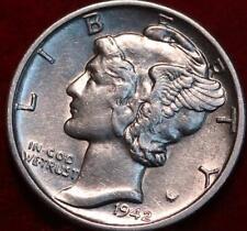 Uncirculated 1942-S San Francisco Mint Silver  Mercury Dime