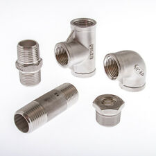 "Stainless Steel (316) Pipe Fittings  BSP Threaded Sizes 1/8"" To 2"""