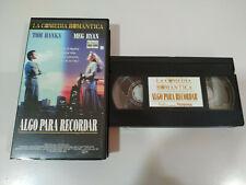 ALGO PARA RECORDAR TOM HANKS MEG RYAN CELINE DION - VHS Cinta Tape Español