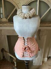 Antik Korsett Puderrosa - french Brocante Chic Shabby