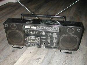 Sanyo M9998L BoomBox Portable Stereo Radio Ghettoblaster cassette not working!!!