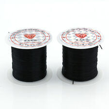 2 Roll Spool 1.0MM Waxed Thread Cotton Cord String Strap Rope Bead Fit Bracelet