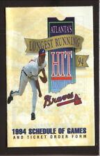 Greg Maddux--Atlanta Braves--1994 Pocket Schedule--Captain D's Seafood