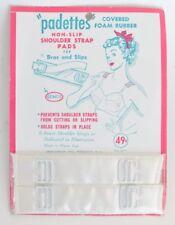 Vintage lingerie Gemco padettes non slip shoulder strap bads bras & slips Nos