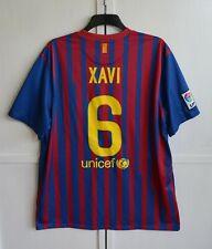 FC BARCELONA #6 XAVI 2011/2012 HOME FOOTBALL SHIRT JERSEY CAMISETA NIKE SIZE 2XL