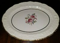 "Pope-Gosser China Rose Point Embassy 5047 Platter 11 1/4"" Coin Gold Trim"