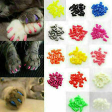 Size XS-2XL Soft Nail Caps Nail Covers Claw Caps Paw Covers for Cat Pet Dog 20PS