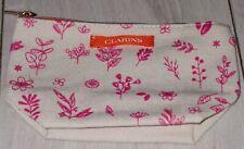 Lovely Clarins Floral Pattern Make Up Bag