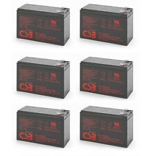 Lot of 6 New 2017 HR1234W CSB High Rate 12V 34W SLA Battery w/F2 Terminals