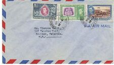 BRITISH HONDURAS 1938 ISSUE #S 115-119 & 121 ON A 1951 COVER USAGE TO BOULDER CO