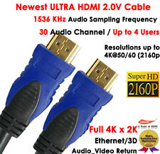 4k 30 Audio Channel w/Up to 4 Users-Newest 6FT HDMI 2.0v Cable 2160P Ethernet,3D