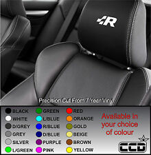 VOLKSWAGEN R LOGO CAR SEAT / HEADREST DECALS -RACING Vinyl Stickers -Graphics X5