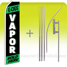 Feather Swooper Banner Sign Flag 15' Kit- E-CIGS VAPOR SOLD HERE kf
