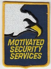 MOTIVATED SECURITY SERVICES SHOULDER PATCH