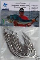 8/0 Stainless Steel Game Fishing Trolling Hooks Pack of 10. Bull Shark hooks