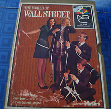 Vintage 1969 Wall Street Book Case Board Game Hasbro Awesome Game   Vintage