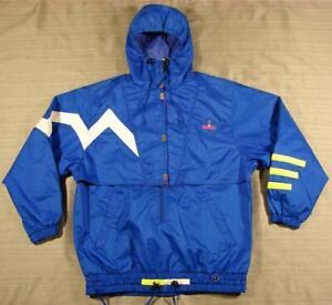 W's 80's vintage Obermeyer Nu R.A.C.E. Ski/Snow Anorak Jacket 8 Electric Blue