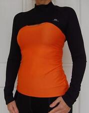 Jivana Lycra Sport Gym Fitness Run Bike Dance CycleGolf Shrug Jacket Women Black