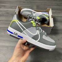 NIKE AIR FORCE 1 REACT GREY TRAINERS SHOES AF1 SIZE UK8.5 US9.5 EUR43 CD4366-002