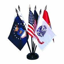 Armed Forces Air Force Army Coast Guard Marine Corps Navy U.S. Desk Flag Set 4x6