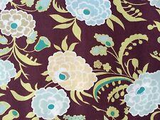 By 1/2 Yard Free Spirit Amy Butler Cotton Fabric Gypsy Caravan Mum Wine Flowers