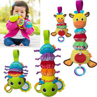 Lovely Baby Infant Rattles Plush Animal Stroller Music Hanging Bell Toy Doll